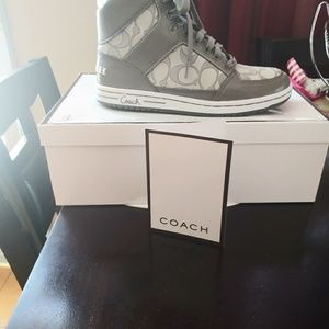 Grey high top sneakers brand new..